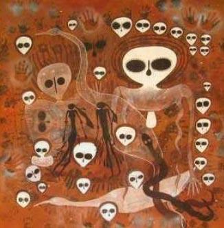 Rock art depicting the Wandjina