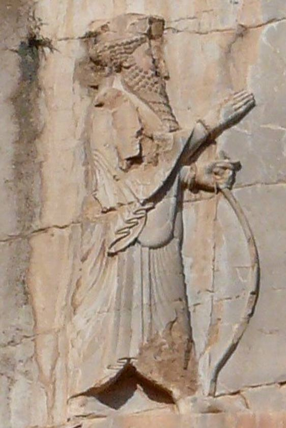 Rock relief of Xerxes at his tomb in Naqsh-e Rustam.