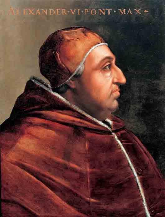The next pope of the House of Borgia was Rodrigo de Borgia who became Pope Alexander VI, one of the most corrupt and notorious popes ever! (Cristofano dell'Altissimo / Public domain)