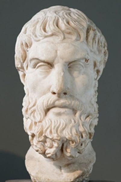 Roman Epicurus bust. (Public Domain)