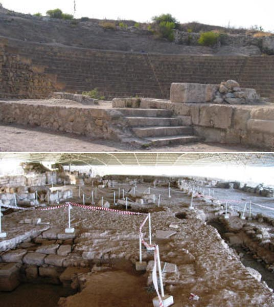 The Roman amphitheater and church in Soloi, Cyprus.