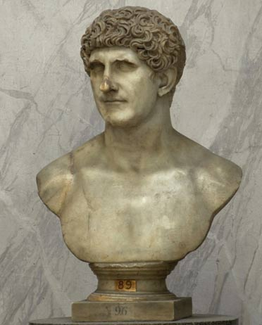 A Roman marble bust of Mark Antony