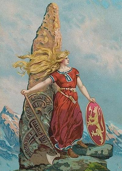 Romanticized depiction of a Viking woman, 1905, by Andreas Bloch