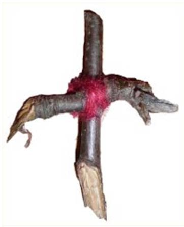 A Rowan tree cross originating in Scotland, donated to a museum in 1893 but dating from much earlier.