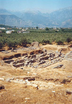 Ruins of Ancient Sparta in Greece.