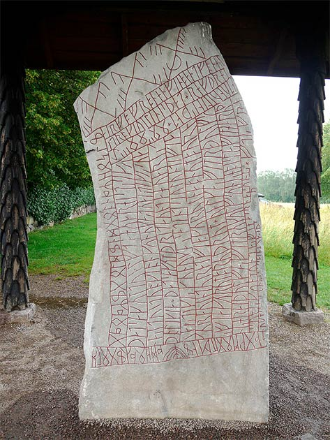 The Rök Runestone is known for featuring the longest stone runic inscription. It is located in Östergötland in Sweden. (Xauxa Håkan Svensson / CC BY-SA 3.0)