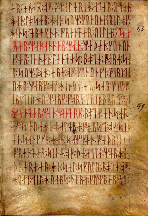 Codex Runicus, a vellum manuscript from approximately 1300 AD containing one of the oldest and best-preserved texts of the Scanian Law, is written entirely in runes. (Asztalos Gyula / Public domain)