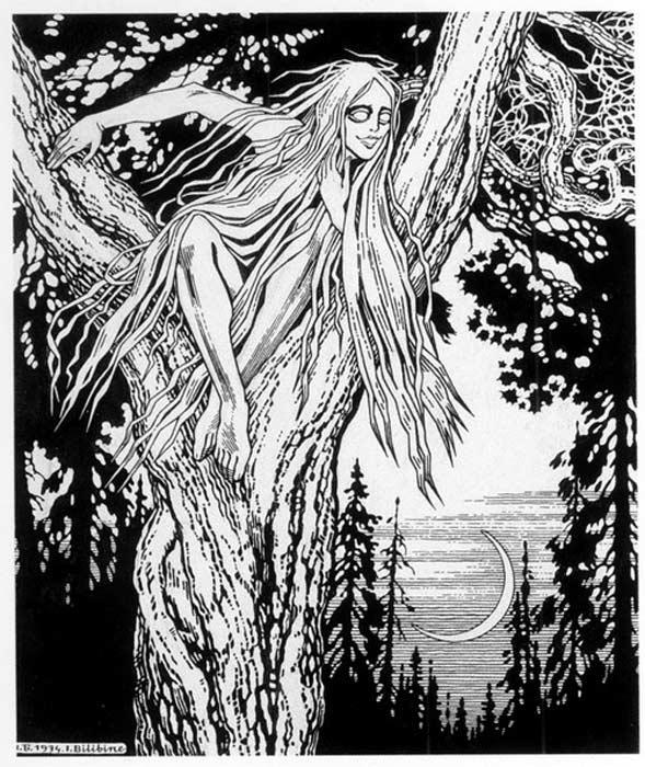 Rusalka by Ivan Bilibin, 1934.