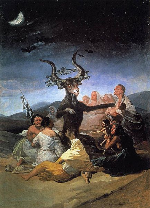 Witches' Sabbath by Francisco de Goya.