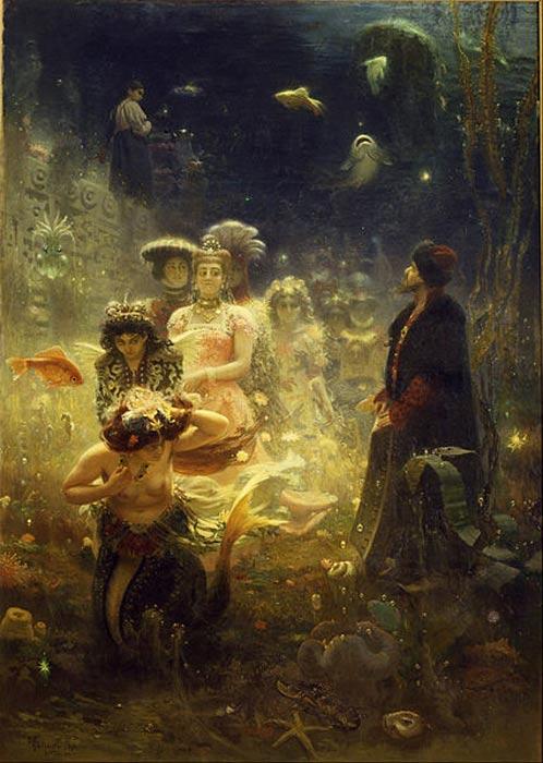 'Sadko in the Underwater Kingdom' (1876) by Ilya Yefimovich Repin.
