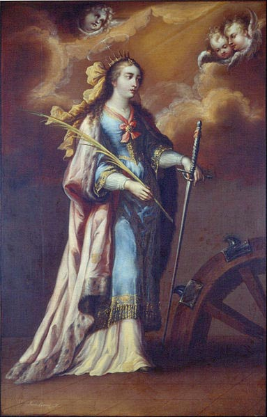 A painting of Saint Catherine of Alexandria by Juan Correa.
