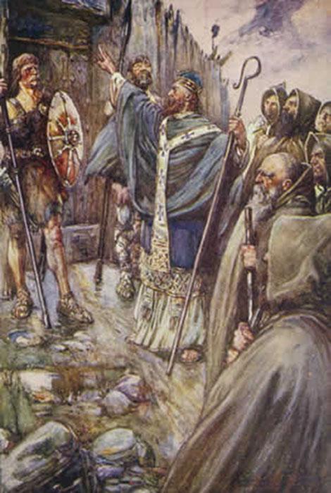 Saint Columba, one of the Twelve Apostles of Ireland, known as Apostle to the Picts. (Public Domain)