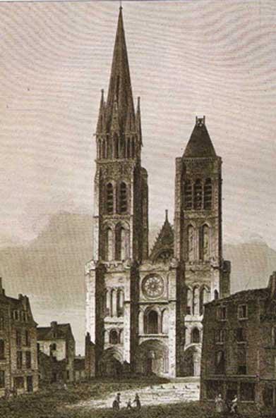 Saint Denis Basilica (Félix Benoist 1844).