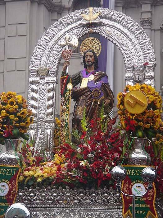 Saint Jude the Apostle procession.