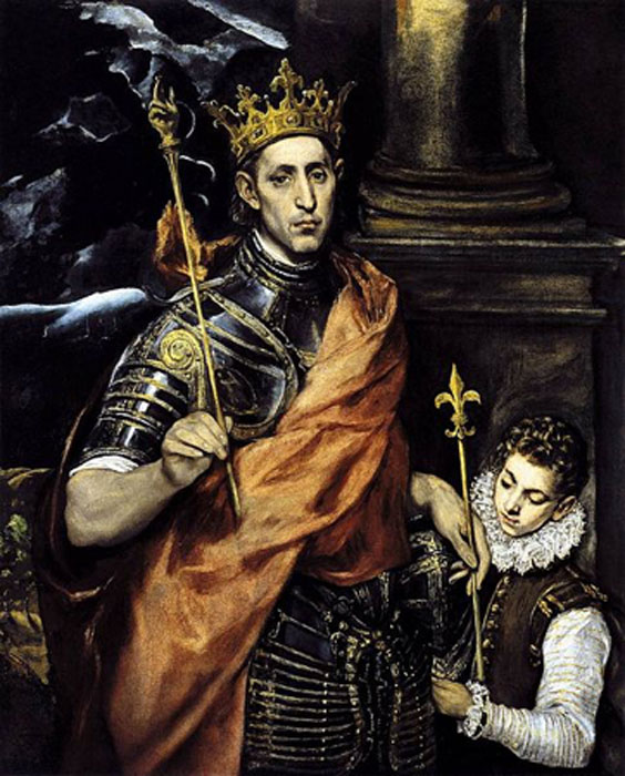 Saint Louis IX by El Greco (public domain)