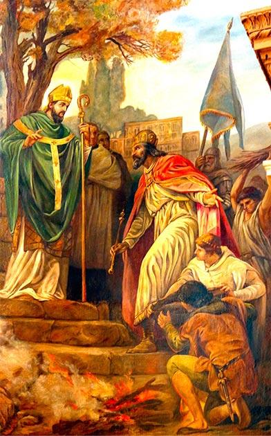 Saint Patrick preaching in Ireland. St. Patrick received a vision about Saint David and was sent to Ireland. (Lawrence OP /CC BY-NC-ND 2.0)