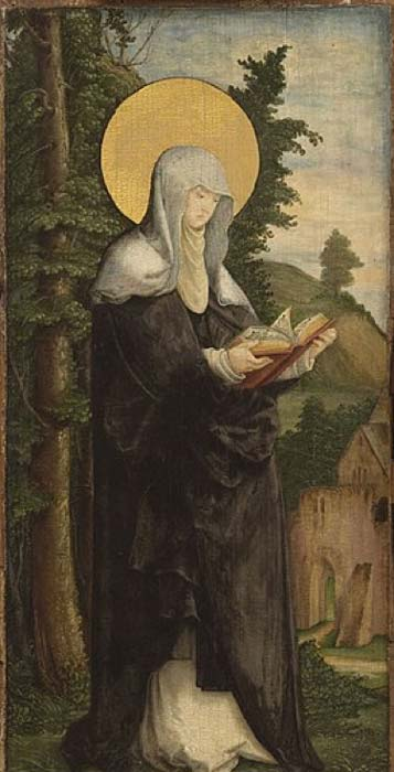 Saint Walpurga. (1535/1540) by Master of Messkrich. (Public Domain)
