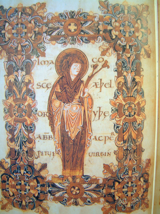Saint Aethelthryth of Ely from the Benedictional of St. Æthelwold depicted in an illuminated manuscript in the British Library. (monk / Public domain)