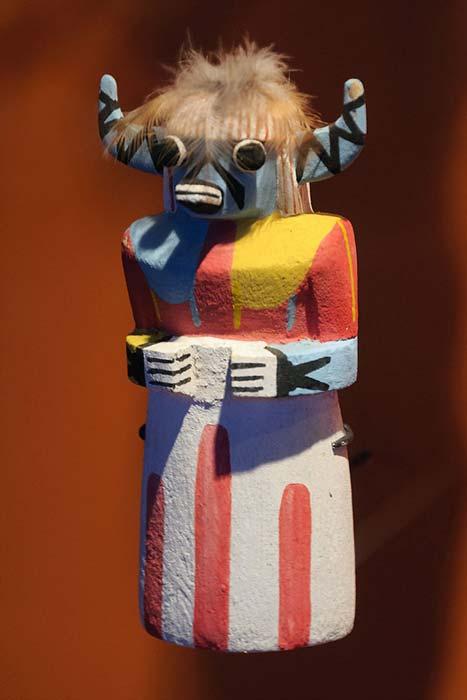 SakwaWakaKatsina (Katsina-Blue-Cow), a Hopi Kachina figure