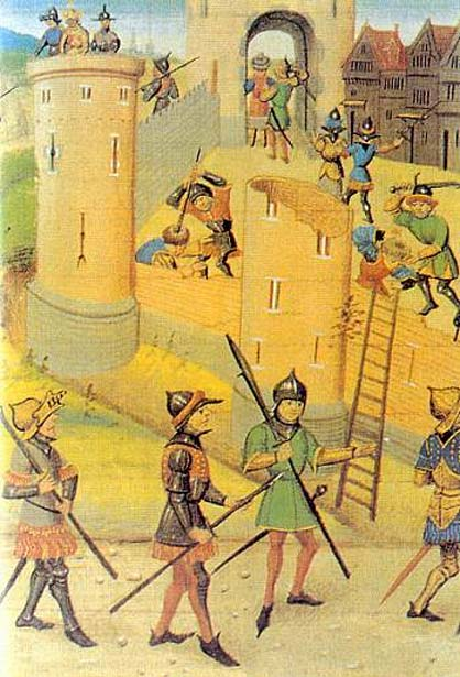 Saladin's attack on Jaffa (Public Domain)