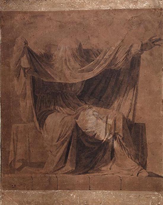 Samuel Forde's 'The Veiled Prophet of Khorassan' (c.1828). Crawford Art Gallery, Cork.