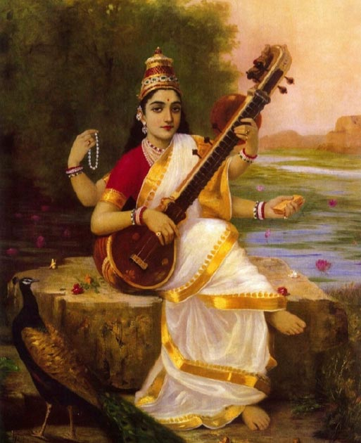 Saraswati, goddess of knowledge, music, art, speech, wisdom, and learning. (Praveenp / Public Domain)