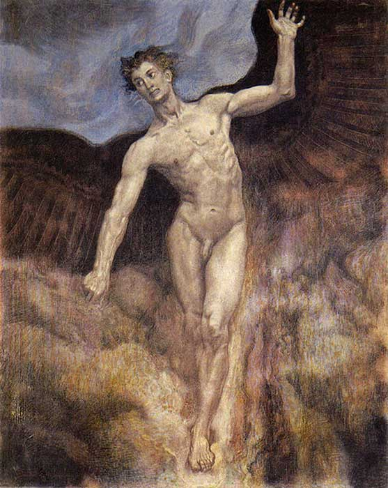 "Sascha Schneider, ""Icarus"" (1906) (Public Domain)"