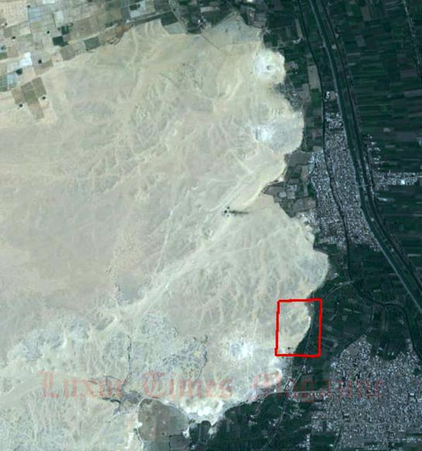 Satellite Image showing the location of the El-Lisht site.