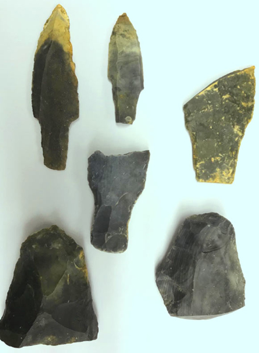 Scientists analyzed the microscopic markings on excavated stone tools including these to discover new findings about the ancient Maya from more than 1,000 years ago. Credit: LSU