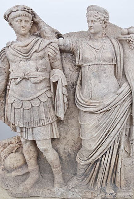 Sculpture of Agrippina crowning her young son Nero. (Carlos Delgado / CC-BY-SA 3.0)