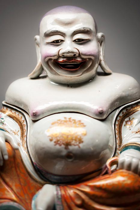 Sculpture of Budai.
