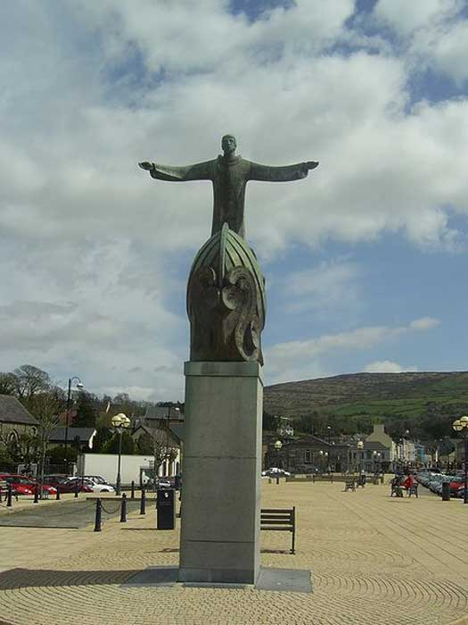 Sculpture of St Brendan, The Square Bantry, County Cork.