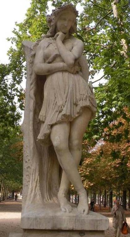 Sculpture of Veleda at Jardin du Luxembourg.