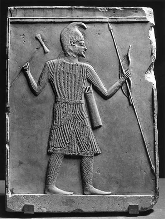 Scythian (or Saka) Warrior with Axe, Bow, and Spear