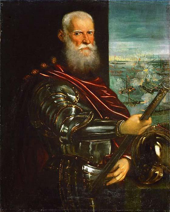 Sebastiano Venier, commander of the Venetian fleet at Lepanto (1571). (Public Domain)