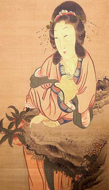 Seiobo, the Queen Mother of the West, in Japanese art. (Xianshan / Public domain)