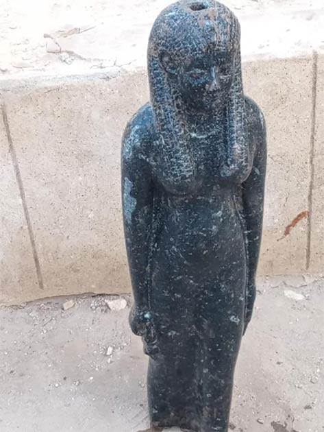 A statue of Sekhmet recently unearthed in Egypt and related to the incredible power of King Ramesses II. (Egyptian Ministry of Tourism and Antiquities)