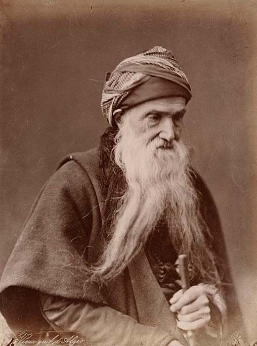 Sephardi Jew from Algeria, circa 1890. (Public Domain)