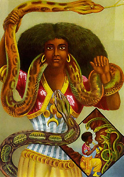"""Serpent Priestess"" Mami Wata, who plays a major role in various African and African-American religions."