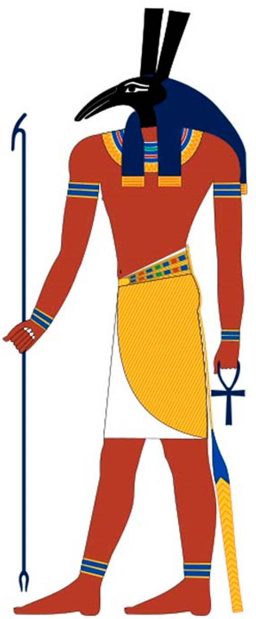 Set, Osiris' brother and another important ancient Egyptian deity. Based on New Kingdom tomb paintings
