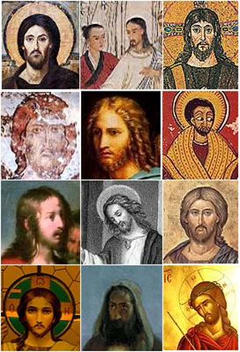 Several depictions of Jesus. ( Public Domain )