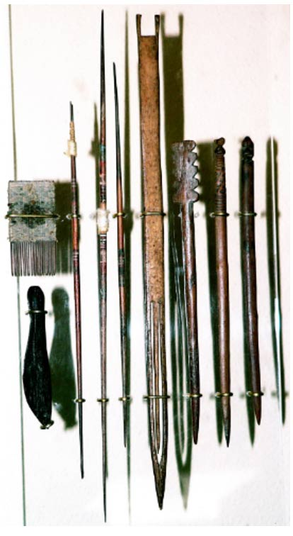 Sewing tools from the Chancay culture.