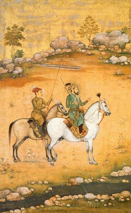 Shah Jahan and his favorite son - Dara Shikoh. (1638)