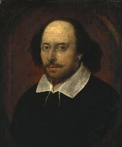 John Taylor's portrait of Shakespeare; Taylor died in 1651. (Wikimedia Commons)