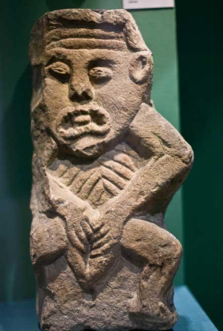 A Sheela na gig in Cavan County Museum, Ireland