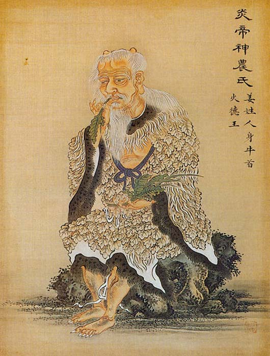 Shennong, (perhaps also Yandi), one of the mythical Emperors of Ancient China.