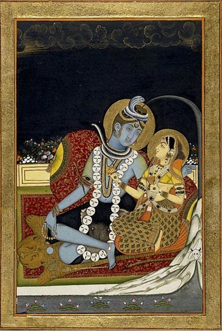 Shiva and Parvati. (circa 1800)