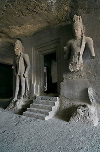 Shiva shrine in Elephanta cave