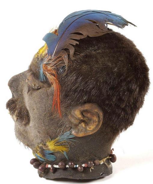 A Shuar shrunken head from Ecuador, Wellcome Images