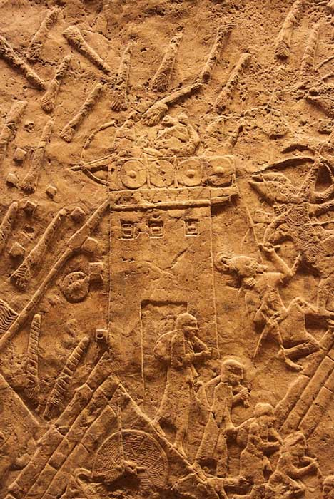 Siege Tower on the Lachish, Relief in the British Museum.